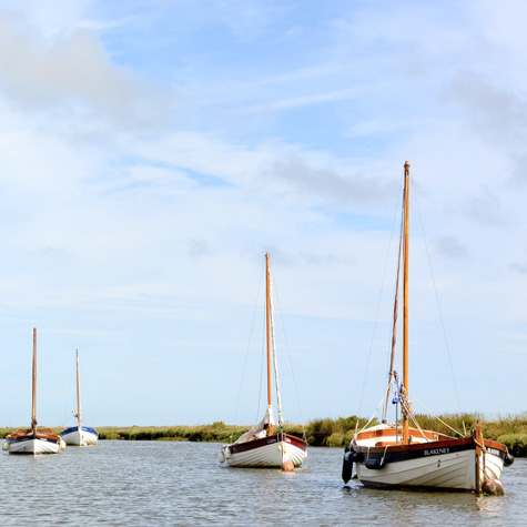 Dinghies in the Blakeney Cut